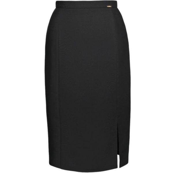 Spódnica czarna z rozcięciem
