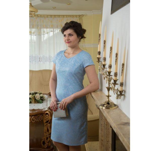 Sukienka wizytowa niebieska