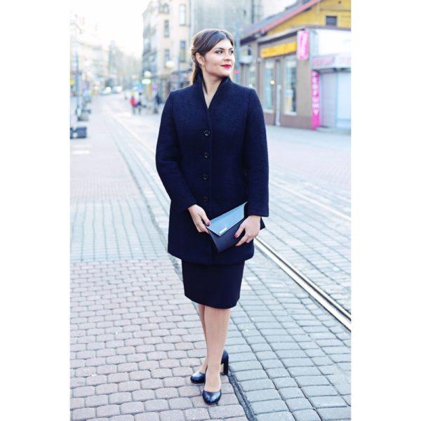 Płaszcz wełniany czarny