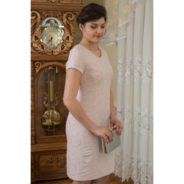Sukienka pudrowa