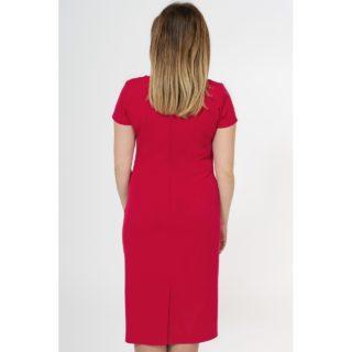 Sukienka czerwona kopertowa