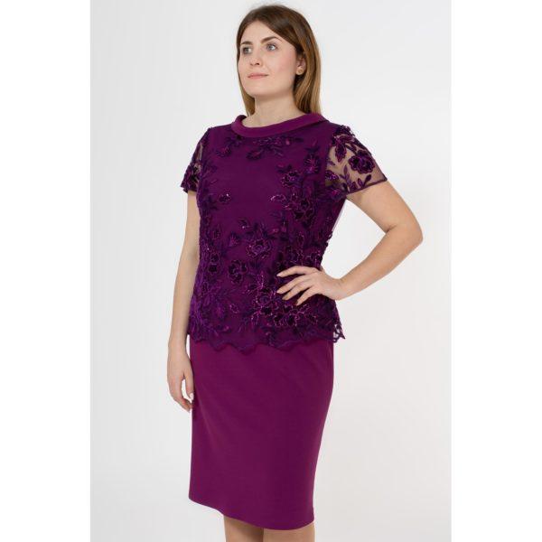 Sukienka gipiura fioletowa